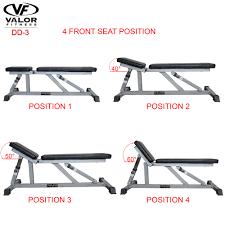 dd 3 incline flat adjustable utility bench valor fitness valor