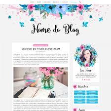 templates blogger personalizados layout azul e rosa floral j a layouts templates personalizados