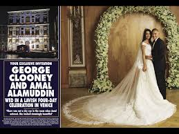 george clooney wedding amal alamuddin and george clooney wedding pictures album hello
