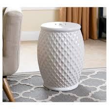 marina tufted white ceramic garden stool abbyson living target