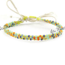 colored bead bracelet images Lotus mann neon yellow cotton multi colored beads bracelet seed jpg
