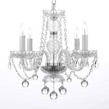 Chandelier With Crystal Balls Clear Crystal Chandeliers Hanging Lights The Home Depot