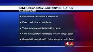 baldwin sheriff u0027s office breaks up fake check ring