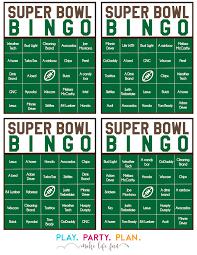 fun super bowl games super bowl commercial bingo