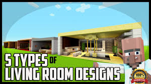 5 types of living room designs in minecraft youtube