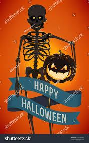 halloween vegetable skeleton vector modern halloween template spooky dark stock vector