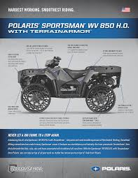 2014 polaris sportsman wv850 with terrainarmor tires spec sheet