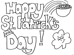 printable st patricks coloring pages funycoloring