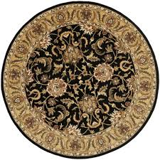 Black And Gold Rug Safavieh Classic Black Gold 5 Ft X 5 Ft Round Area Rug Cl252a 5r