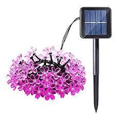 qedertek solar string lights qedertek solar string lights 22ft 50 led waterproof flower