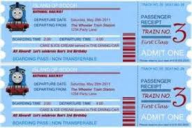 train ticket invitation template free invitation template