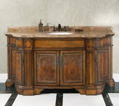 bathroom oak wooden single sink vanity design ideas with wall
