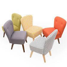 fabric bedroom vintage retro chairs ebay