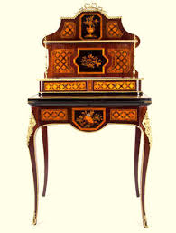 bureau style louis xv a louis xv style marquetry bureau de dame inlaid in different woods