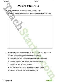 making inferences comprehension task teaching resource u2013 teach