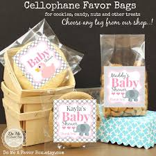 baby shower favors personalized label and bags candy bag
