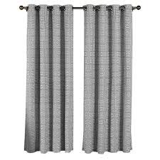 white and grey curtain panels solid semisheer rod pocket single