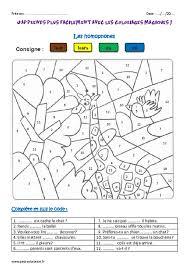 homophones cm1 coloriage magique pass education
