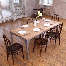 industrial metal dining table