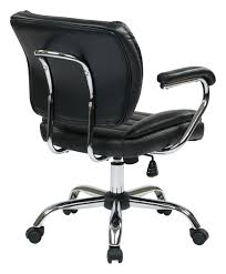 Office Star Leather Chair Faux Leather Executive Office Chair Cognac Brown Desk Chairs At