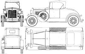 free printable blueprints 1927 ford model a runabout cabriolet blueprints pinterest