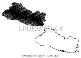 flat central america map download free vector art stock
