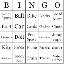 toys bingo cards
