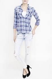 Black And White Plaid Shirt Womens The White U0026 Black Womens Plaid Shirt Vanilla Star Jeans