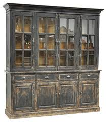 black distressed display cabinet rustic china cabinets and