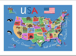 Kids Map Of The United States by Download Map Usa For Kids Major Tourist Attractions Maps