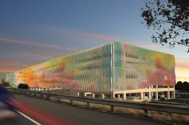 colorful parking garage will serve commuters in bay area city click here to enlarge