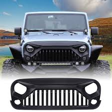 jeep rhino color 2017 amazon com u max front matte black gladiator grid grill for jeep