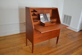 Secretary Computer Desk by Nils Jonsson For Hjn Mobler Danish Teak Secretary Vanity