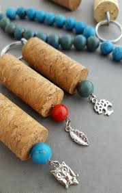 diy wine and cork keychain how to instructional lady and the blog
