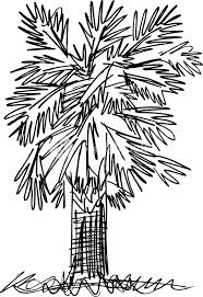 sketch of abstract palm tree vector illustration royalty free