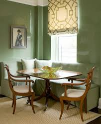 Green Dining Room Tufted Banquette Transitional Dining Room Phoebe Howard