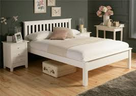 white wooden double bed frame lfe