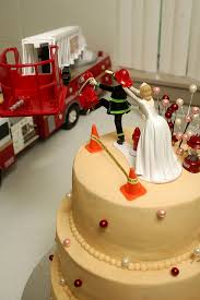 firefighter wedding cake shared by lion department