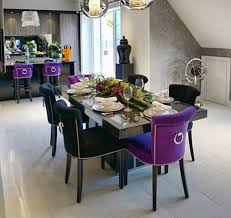 Napoli Dining Table Napoli Purple Dining Chair With Stylish Knocker Dining Chairs