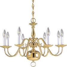Brushed Brass Chandelier Brass Hanging Lights Lighting U0026 Ceiling Fans The Home Depot