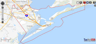map of galveston galveston county property search and gis map