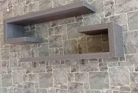 mensole rovere grigio ve ca italy set 6 mensole design in legno di qulita con venature