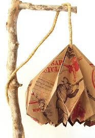 turn a trader joes grocery bag into a pendent lamp hometalk