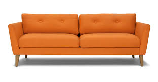 Orange Sofa Bed Emil Gravel Gray Sofa Sofas Article Modern Mid Century And