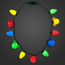 disney christmas necklace christmas lights with mickey led