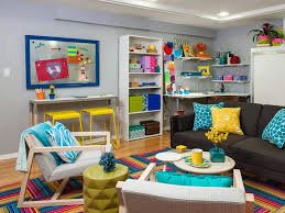 ChildFriendly Finished Basement Designs - Kid friendly family room ideas