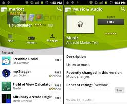 android market app new android market and apps spotted