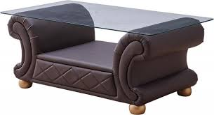 brown coffee table set 3 pc versace coffee table set in brown leather