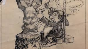 never before seen sketches from snow white and the seven dwarves