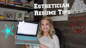 Sample Esthetician Resume by Esthetician Resume Tips W Sample Template Youtube